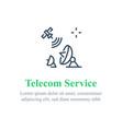 telecommunication services satellite internet vector image