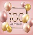 template 100 years anniversary background