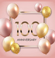 template 100 years anniversary background with vector image vector image