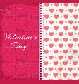 valentines day design pattern vector image