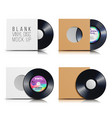 vinyl disc set blank isolated white background vector image vector image