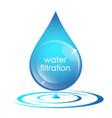 water drop filtration symbol vector image vector image