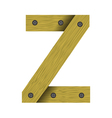 wood letter Z vector image vector image