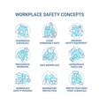 workplace safety concept icons set