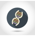 Human DNA flat icon vector image