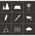 black education icons set vector image