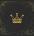 ornamental crown logo template vector image