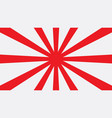 red sun japan graphic background vector image