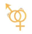 symbol sex female male ring wedding design vector image