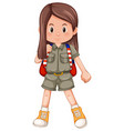 a long hair scout character vector image vector image
