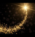 abstract golden christmas background vector image vector image
