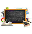 background of back to school vector image vector image