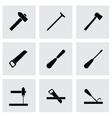 black carpentry icon set vector image vector image