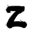 blot letter z black and white vector image vector image