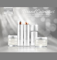 bottles set for various cosmetic products vector image vector image