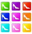 bride shoes set 9 vector image vector image