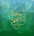 Card with Happy Easter lettering-5 vector image vector image