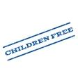 Children Free Watermark Stamp vector image vector image
