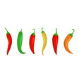 chilli pepper isolated icons vector image