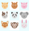 circle head animal vector image