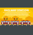 city railway station concept banner flat style vector image