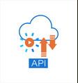 cloud api software integration icon vector image