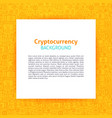 cryptocurrency paper template vector image vector image