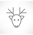 deer head on a white background vector image vector image