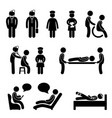 doctor nurse hospital medical psychiatrist vector image vector image