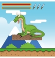 Dragon and videogame design vector image vector image