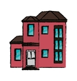 drawing house urban expensive vector image vector image