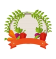 farm vegetables product icon vector image vector image