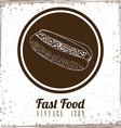 Fast Food design vector image