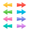 Flat design colorful arrow icons set collection vector image