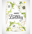 floral template card vector image vector image