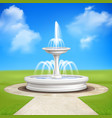 fountain in garden vintage composition vector image vector image