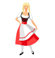 girl in national costume germany vector image