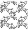 hand drawn russian greyhound vector image