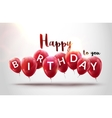 Happy birthday balloons celebration Birthday vector image vector image