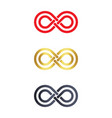 infinity symbol logo icons vector image