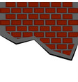 isolated brick wall cracked vector image