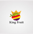 king fruit logo icon element and template vector image