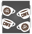 left and right side signs - cafe vector image vector image