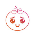 line kawaii cute happy tomato vegetable vector image vector image