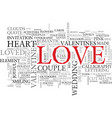 loved word cloud concept vector image vector image