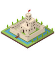 medieval kingdom concept 3d isometric view vector image