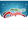 merry christmas card white and blue background vector image vector image