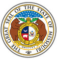 missouri state seal vector image vector image