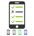 mobile checklist flat icon vector image vector image