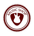 music shop label vector image